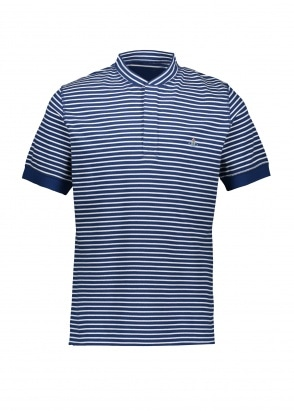 Vivienne Westwood Mens Henley Stripe Polo - Blue / White