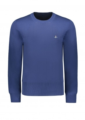 Vivienne Westwood Mens Knit Crew - Dark Blue