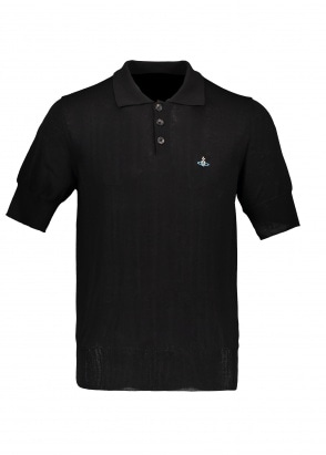 Vivienne Westwood Mens Knit Polo - Black