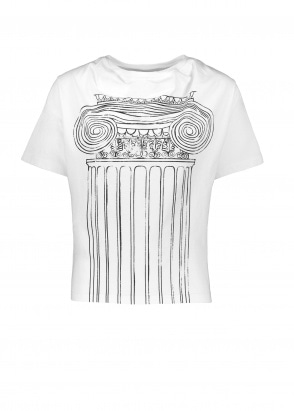 Vivienne Westwood Womens Historic T-Shirt Pillar Print - White