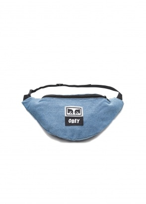Obey Wasted Zip Bag - Denim