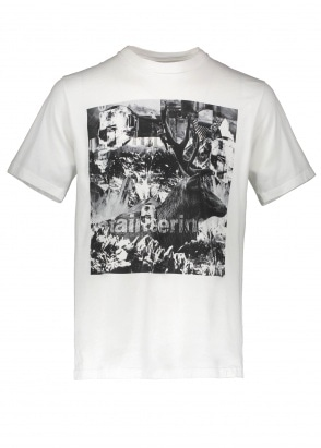 White Mountaineering  Deer Collage T Shirt - White