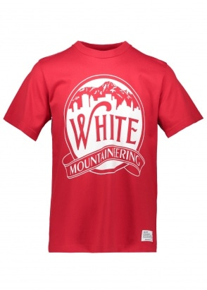 White Mountaineering  Mountains & Buildings Tee - Red