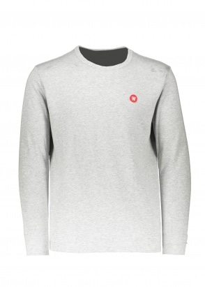 Wood Wood Mel Long Sleeve - Grey Melange