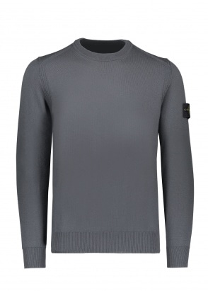 Stone Island Wool Knit Crewneck - Smokey Grey