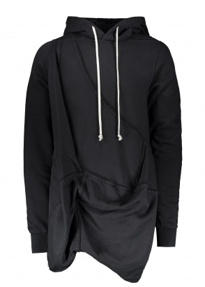 Rick Owens Drkshdw Woven Hooded Sweatshirt - Black