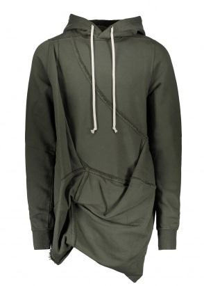 Rick Owens Drkshdw Woven Hooded Sweatshirt - Forest