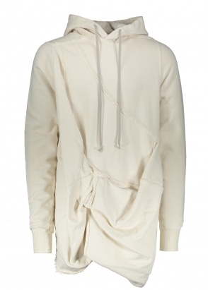 Rick Owens Drkshdw Woven Hooded Sweatshirt - Natural