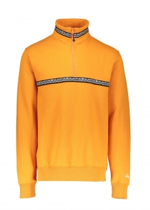 Stussy Woven Tape Mock Neck Orange S