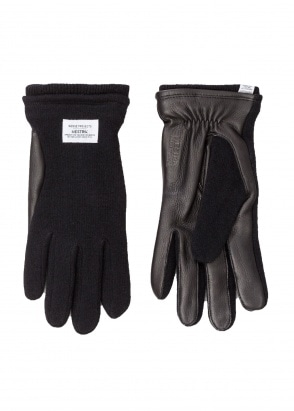 Norse Projects x Hestra Svante Gloves - Black
