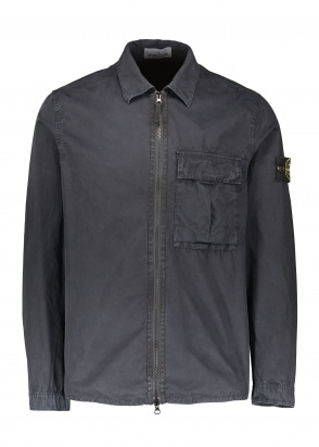 Stone Island Zip Overshirt - Navy Blue