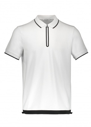 BLACKBARRETT by Neil Barrett Zip Polo - White / Black