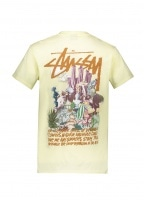 Psychadelic Tee - Pale Yellow