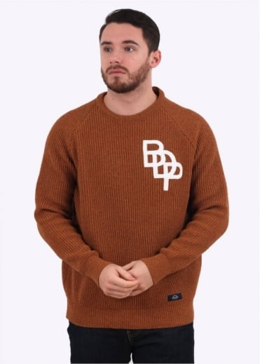 Bleu de Paname Pull Raglan - Burnt Orange