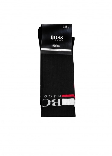 Hugo Boss QS Rib Logo CC Socks - Black