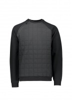 Quilted Sweater - Black