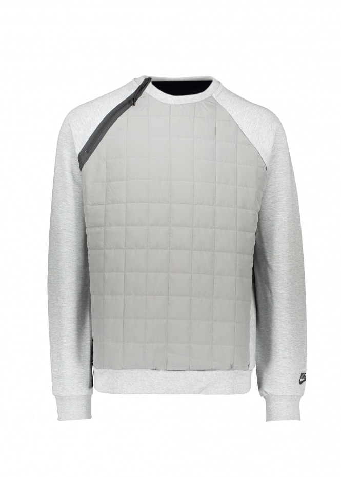 Quilted Sweater - Grey Heather