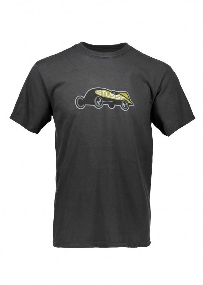 Race Car Pig. Dyed Tee - Black