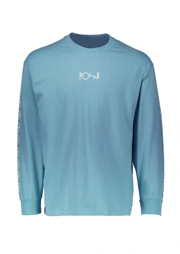 Polar Skate Co Racing Longsleeve - Grey Blue