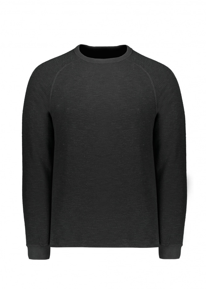 Beams Plus Raglan Crew- Black