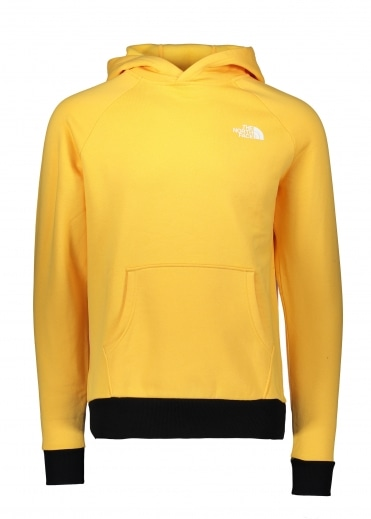 North Face Raglan Red Box Hoodie - Yellow