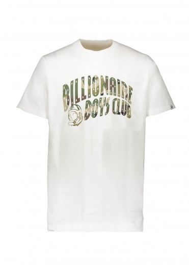 Billionaire Boys Club Reflective Camo Arch Logo Tee - White