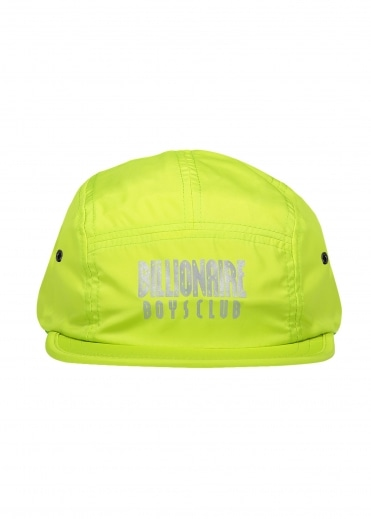 Billionaire Boys Club Reflective Logo 5 Panel Cap - Cyber Yellow