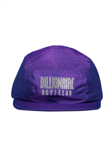 Billionaire Boys Club Reflective Logo 5 Panel Cap - Purple