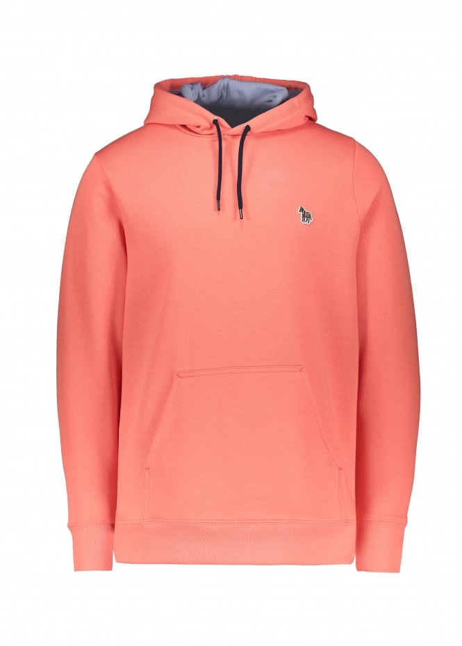 Paul Smith Regular Fit Hoodie - Coral