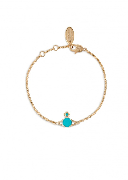 Reina Small Bracelet R375 - Gold / Turq