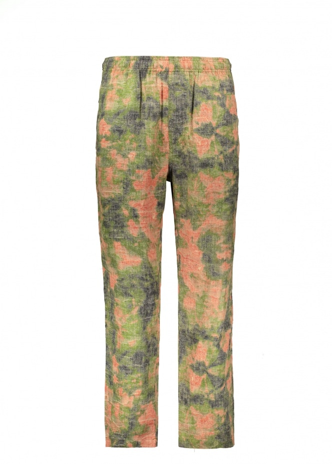 Reverse Jacquard Relaxed Pant - Floral