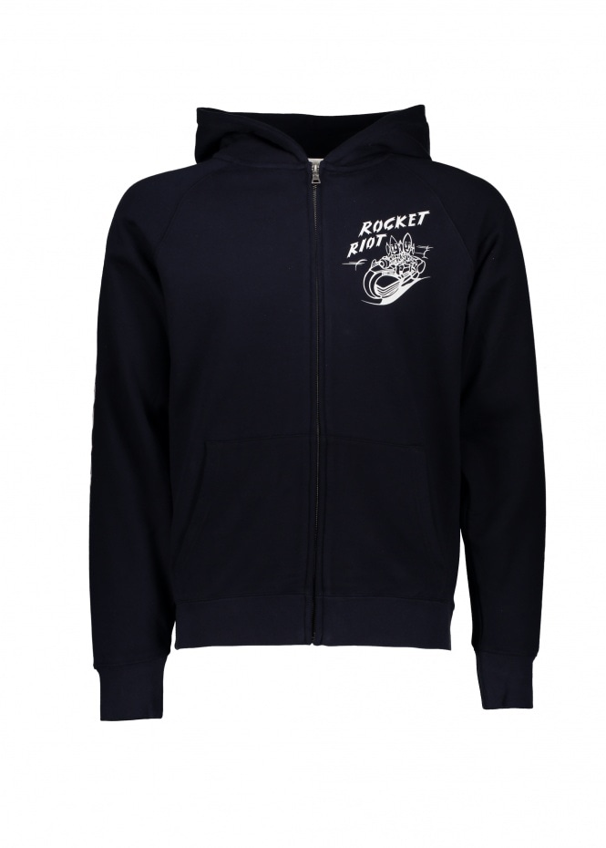 Billionaire Boys Club Rocket Riot Zip Hood - Navy