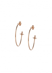 Vivienne Westwood Accessories Rosemary Earrings - Pink Gold