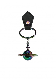 Vivienne Westwood Accessories Round Orb Multi Keyring - Black