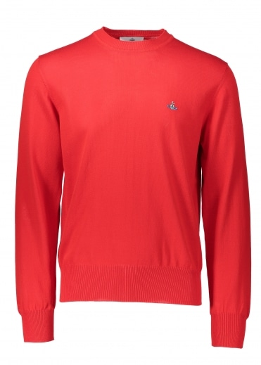 Vivienne Westwood Mens Roundneck Knit - Red