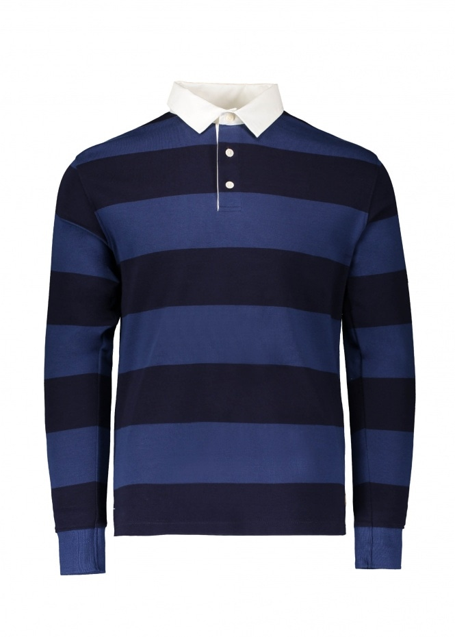 Armor Lux Rugby Stripe Polo - Polo / Iroise