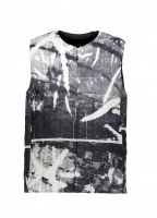 Snow Peak RY Printed Middle Down Vest - White / Black