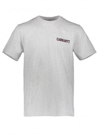 Carhartt S/S College Script Tee-  Ash Heather