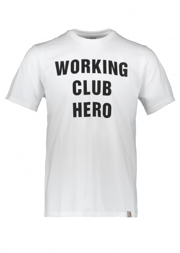 Carhartt S/S Working Club Tee - White / Black