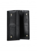 Saffiano Credit Card Wallet - Black
