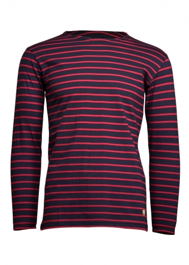 Armor Lux Sailor Shirt LS - Dark Blue/ Dark Red