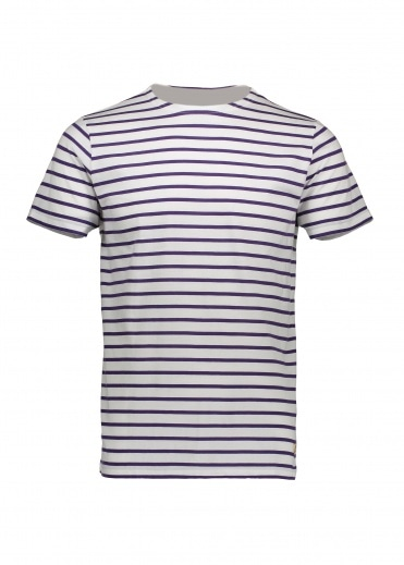 Armor Lux Sailor Shirt SS - White / Violet