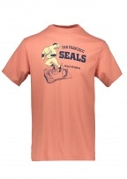 Ebbets Field Flannels San Fransico Seals Stadium Tee - Salmon
