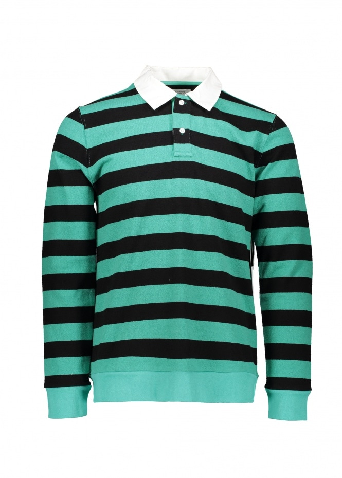 Saturdays NYC Sanders Stripe LS Tee - Seafoam