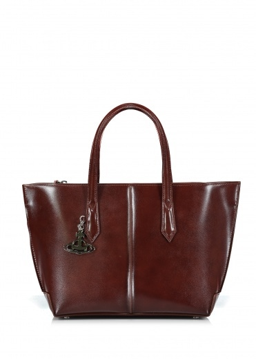 Vivienne Westwood Accessories Sarah Medium Shopper Bag - Brown