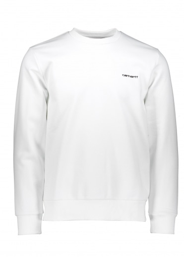 Carhartt Script Embroidery Sweat - White / Black