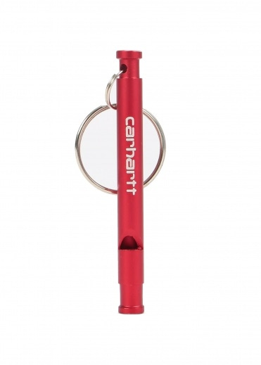 Carhartt Script Whistle Keychain - Red