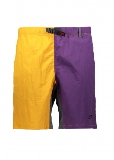 Gramicci Shell Packable Shorts - Mustard / Purple