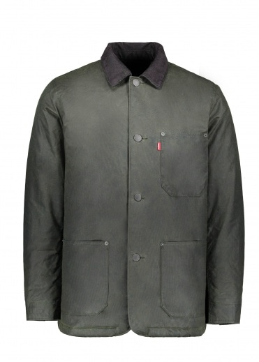 Levi's Red Tab Sherpa Engineers Coat - Python Green