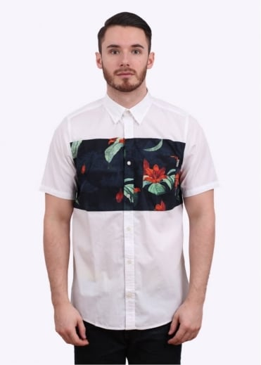 Short Sleeve Gosling Shirt - Tropic Print / White